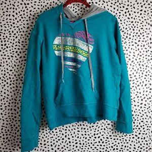 Hard Candy Rainbow Heart Sweatshirt Hoodie